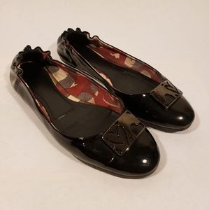 Burberry patent leather ballet flats